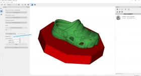 A base can be added to dissected sections. Image via Thor3D.