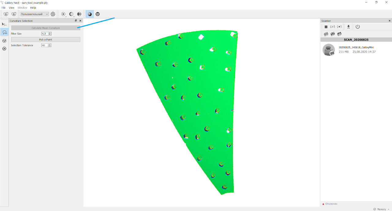The Curvature Selection tool in action. Image via Thor3D.