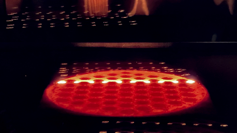 Freemelt's ProHeat electron beam powder bed fusion preheating technology in progress. Image via Freemelt.