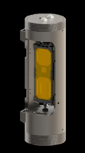 Field testing model of water pollution sensor. Photo via Formlab.