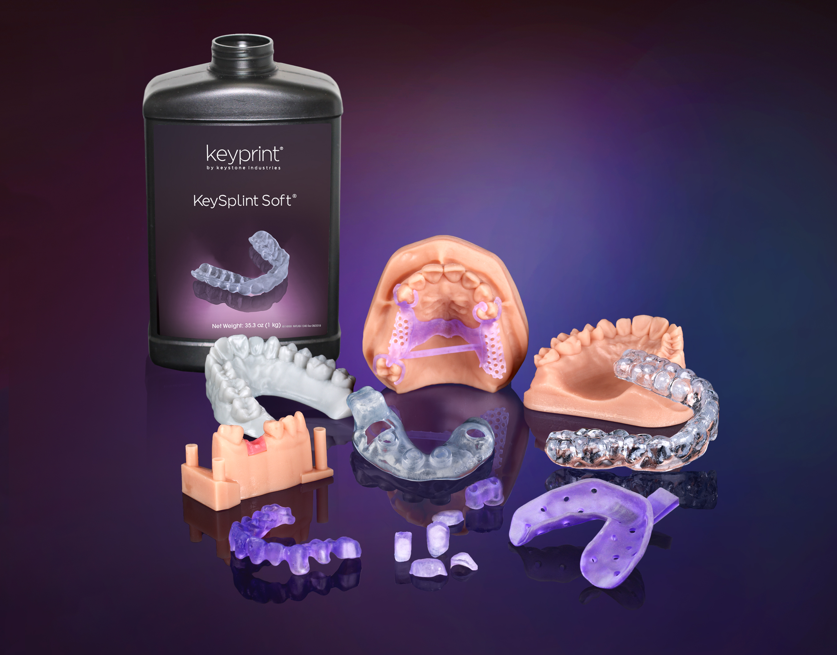 Customized dental solutions marketed under the KeyPrint brand. Image via Henkel.