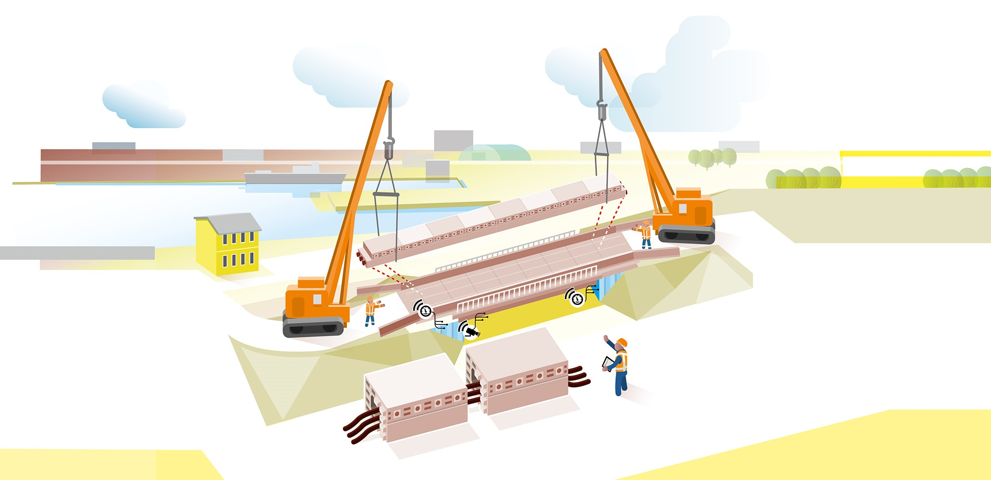 Rijkswaterstaat is aiming to construct, renovate, and replace viaducts to become fully circular by 2030. Image via Rijkswaterstaat.