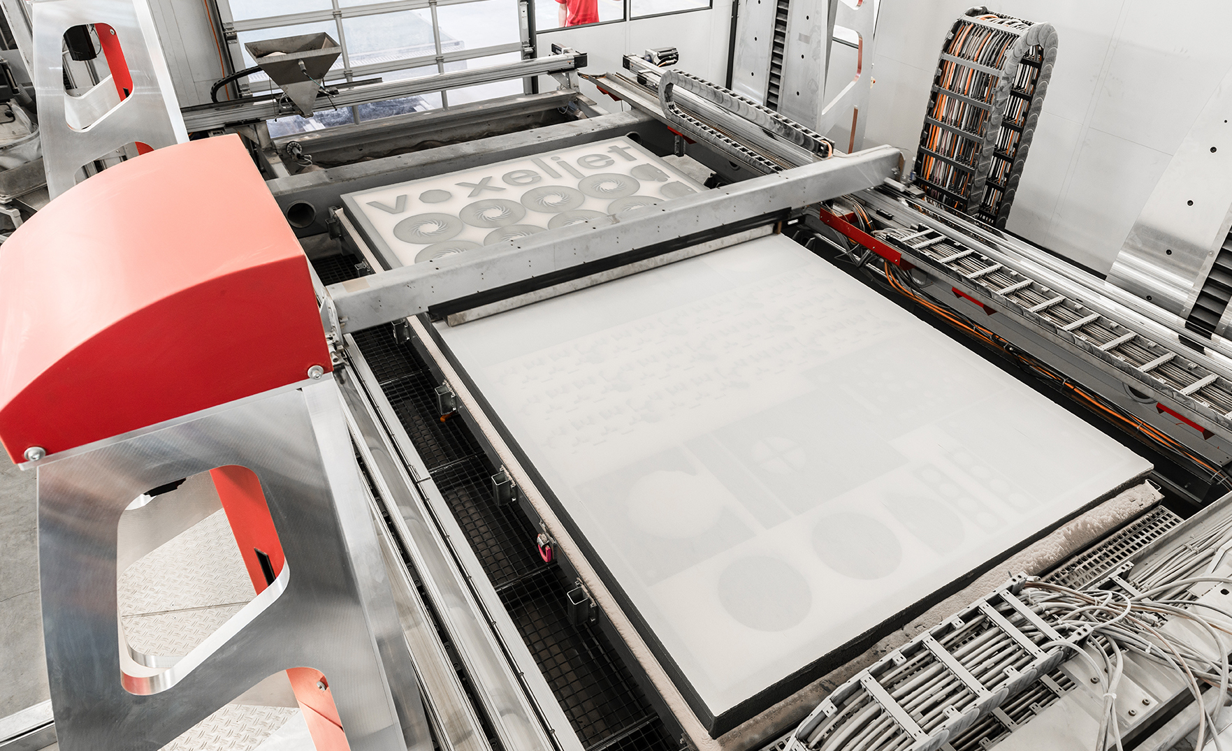 voxeljet's VX4000 is the world's largest industrial printing system for sand molds. Photo via voxeljet