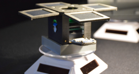 Featured image shows a PocketQube satellite that was produced by CRP USA. Photo via CRP USA.