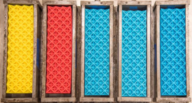 A set of 3D printed octet lattices. Photo via UC Berkeley.