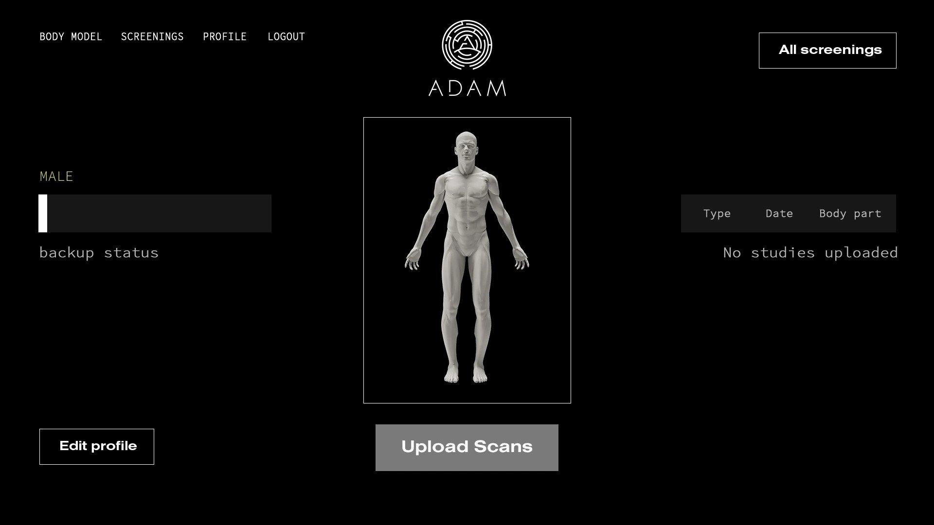 A.D.A.M.'s digital scan platform. Image via A.D.A.M.