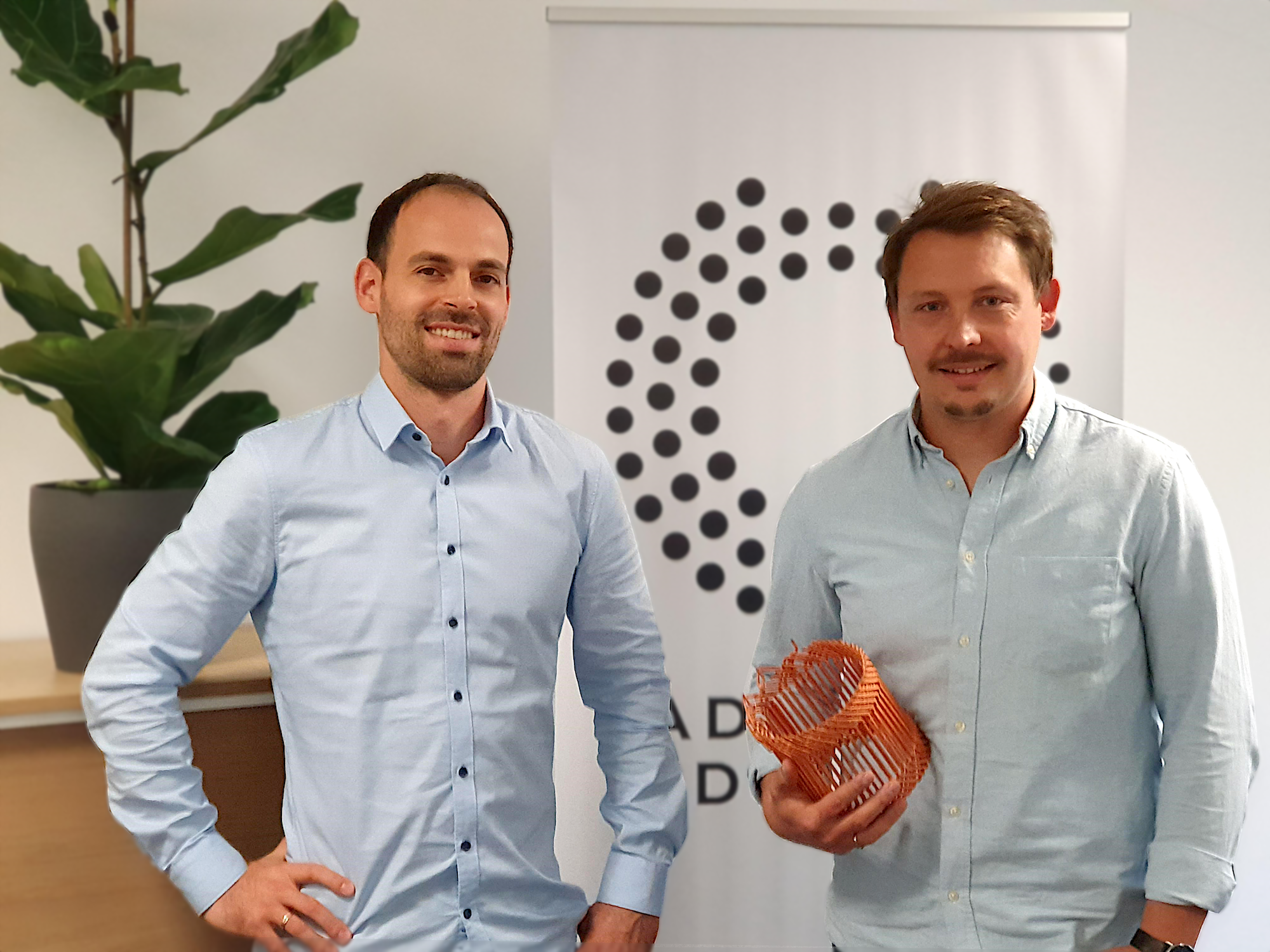 Dr. Jakob Jung (CEO and co-founder) and Axel Helm (General manager) of Additive Drives. Image via Additive Drives.