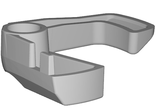 Sinterit has indicated that common prints such as battery levers (pictured) and bike pedals, could be printed multiple times within the same build chamber in its Lisa machines. Image via Sinterit.