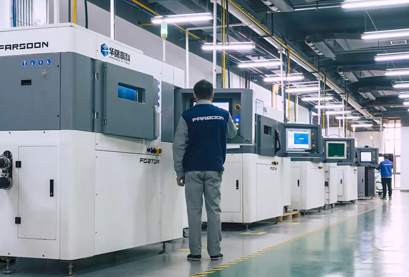 Chinese 3D printer manufacturers such as Farsoon have returned to revenue growth more quickly than its US or European counterparts. Photo via Farsoon.