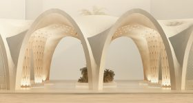 Barberio Colella Architetti and Angelo Figliola will use 3D printing to create a sustainable urban bioclimatic shell in Abu Dhabi, using binder jet technology. Photo via Barberio Colella Architetti