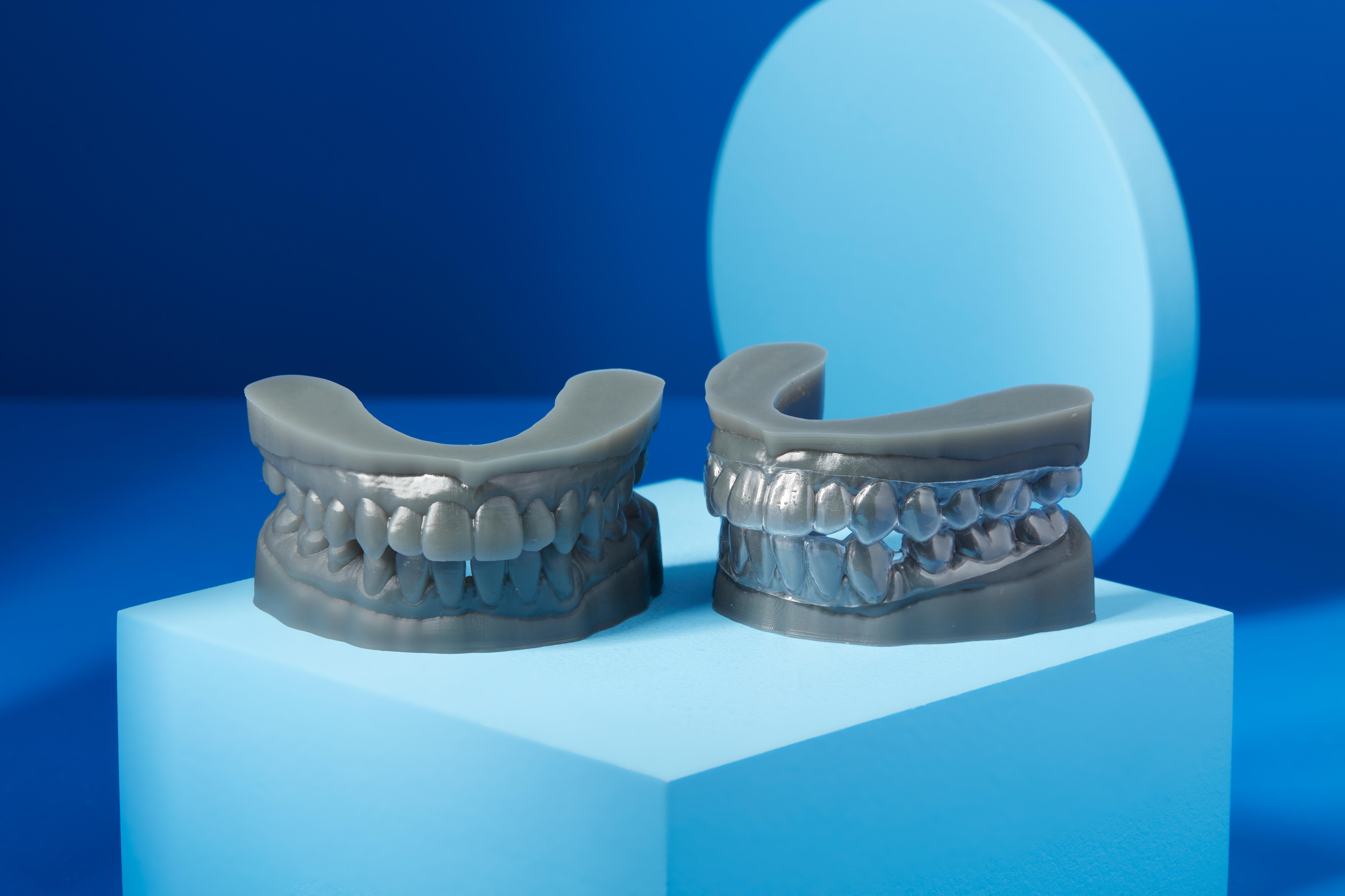 Dental models manufactured with Formlabs' Draft Resin. Image via Formlabs. Rigid 10K