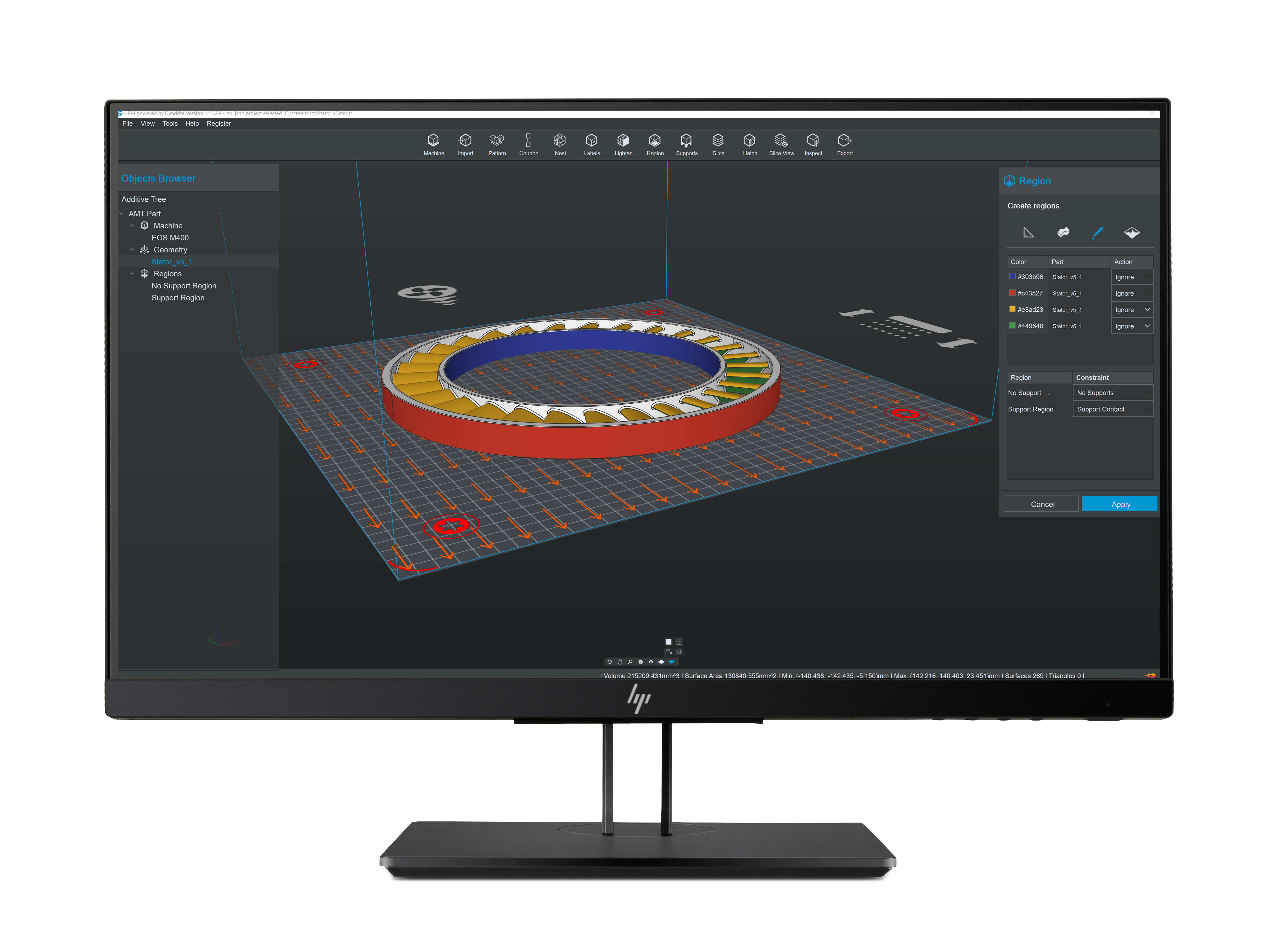 HP's Universal Build Manager leverages proprietary HP software and data innovation, combined with the Dyndrite Accelerated Geometry Engine. Image via HP.