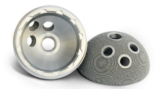 LaserForm Ti is a medical-grade titanium powder for use with powder bed fusion sytems. Photo via 3D Systems.