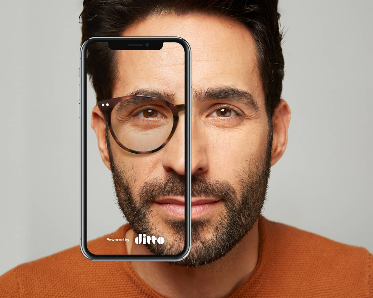 Materialise's investment in Ditto enables customers to browse bespoke 3D printable frames through Ditto's online shop. Photo via Ditto
