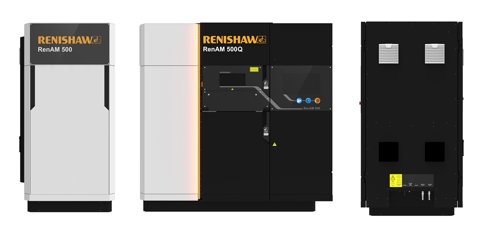 Renishaw's RenAM500 Q 3D printers. Photo via Renishaw.