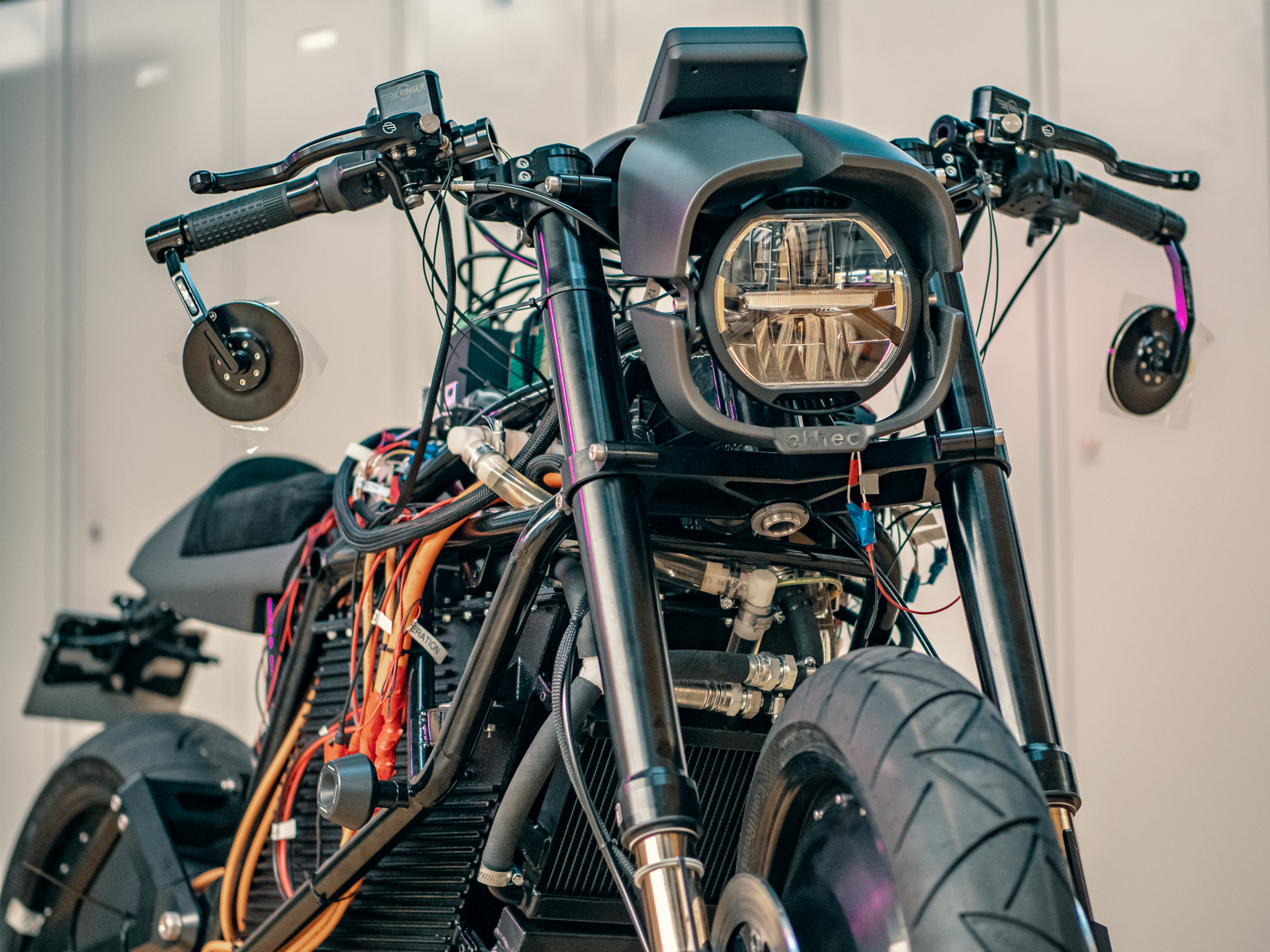 Under the hood of the motorcycle. Photo via ETH Zurich.