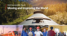 Wabtec's Sustainability Report 2020. Image via Wabtec.