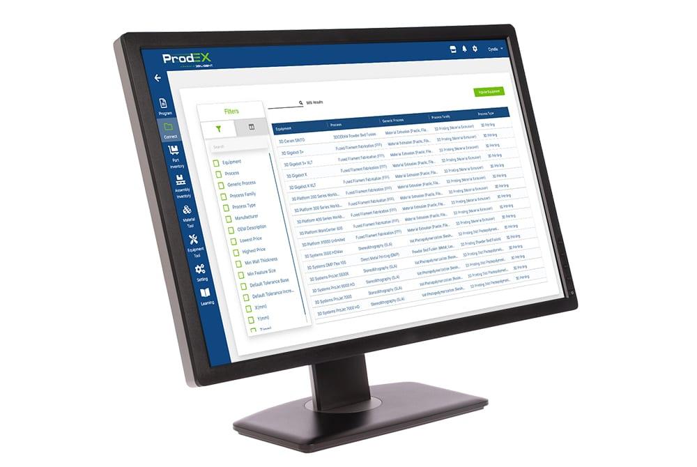 ProdEX is 3Diligent's algorithm-based manufacturing-as-a-service application. Image via 3Diligent.
