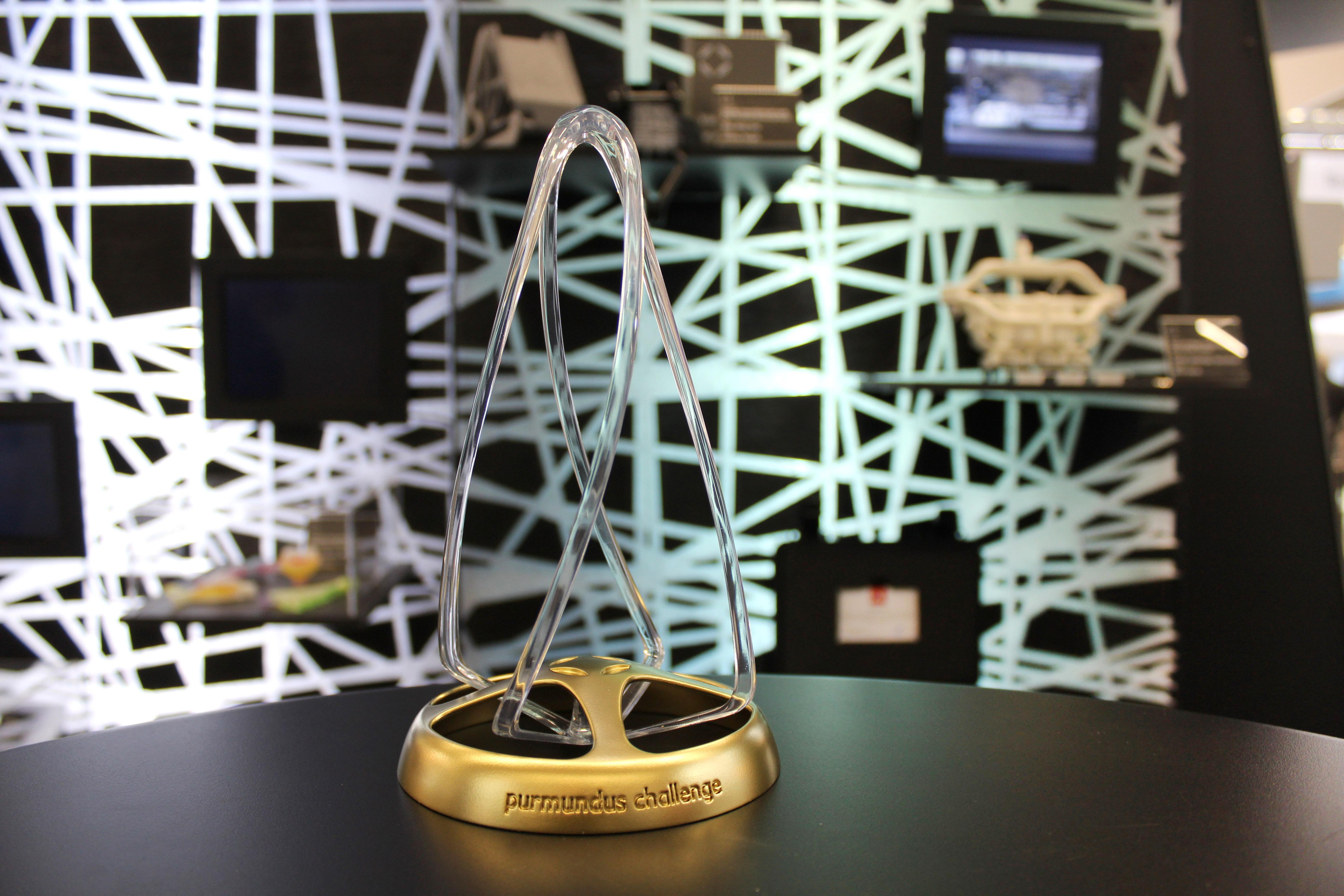 The purmundus challenge 2020 trophy. Photo via purmundus challenge.