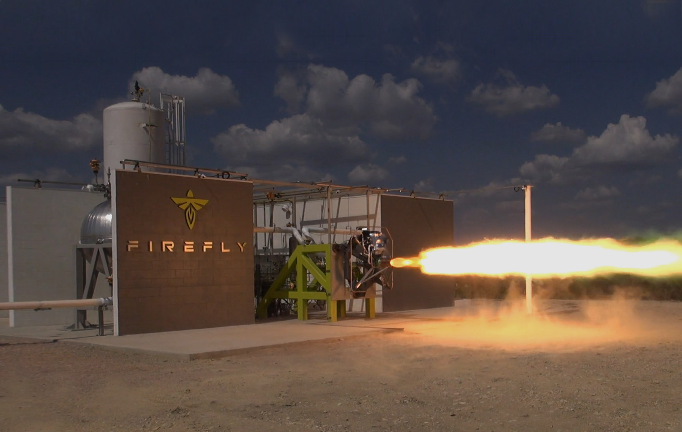 The first Firefly engine test. Image via Firefly Aerospace.