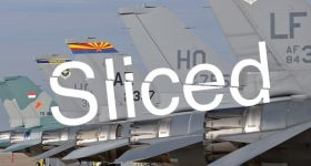 Featured image shows the Sliced logo on top of an image of fighter jets from the Hill Air Force Base. Photo via the Hill Air Force Base.