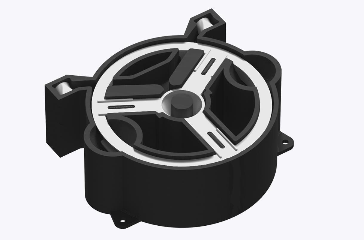 A 3D printed anti-rotation fixture designed using the nTop platform. Image via nTopology.