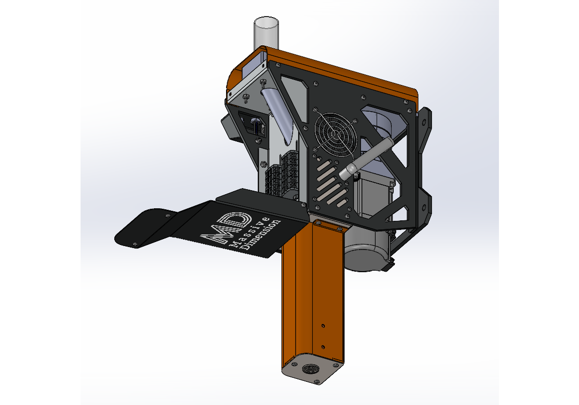 A back view of the MDPE10. Image via Massive Dimension.