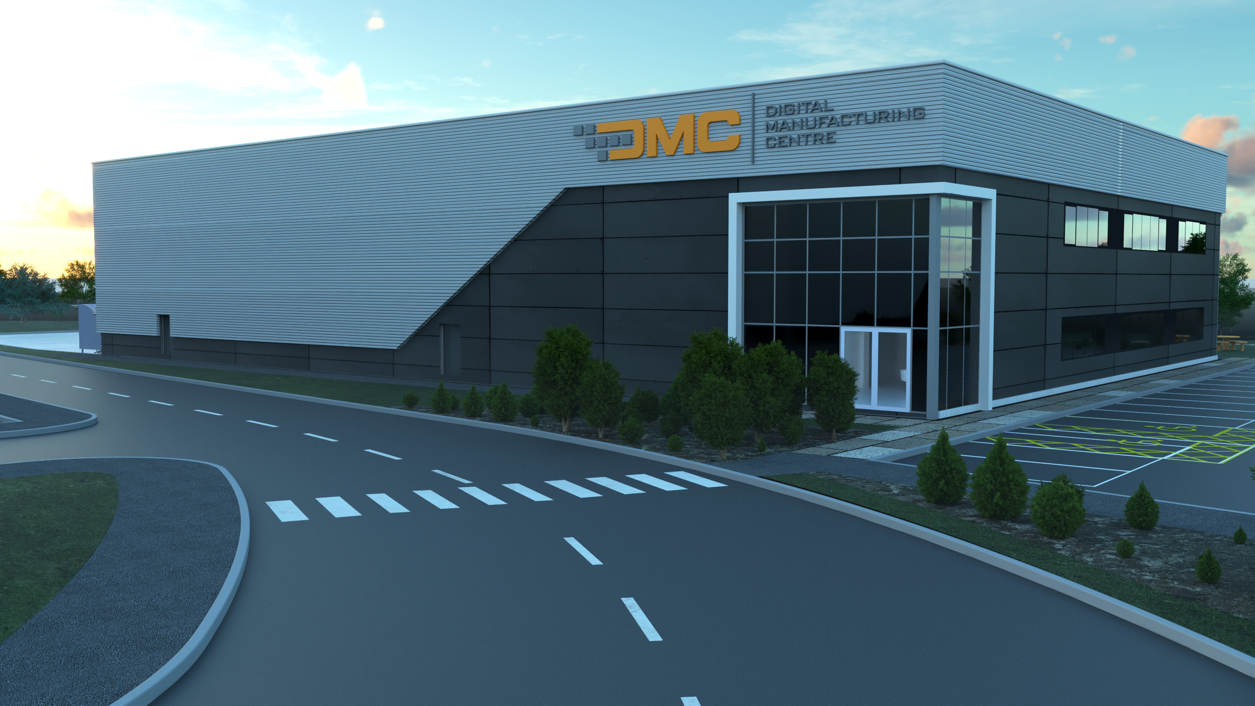 The Digital Manufacturing Center's headquarters. Image via DyeMansion.
