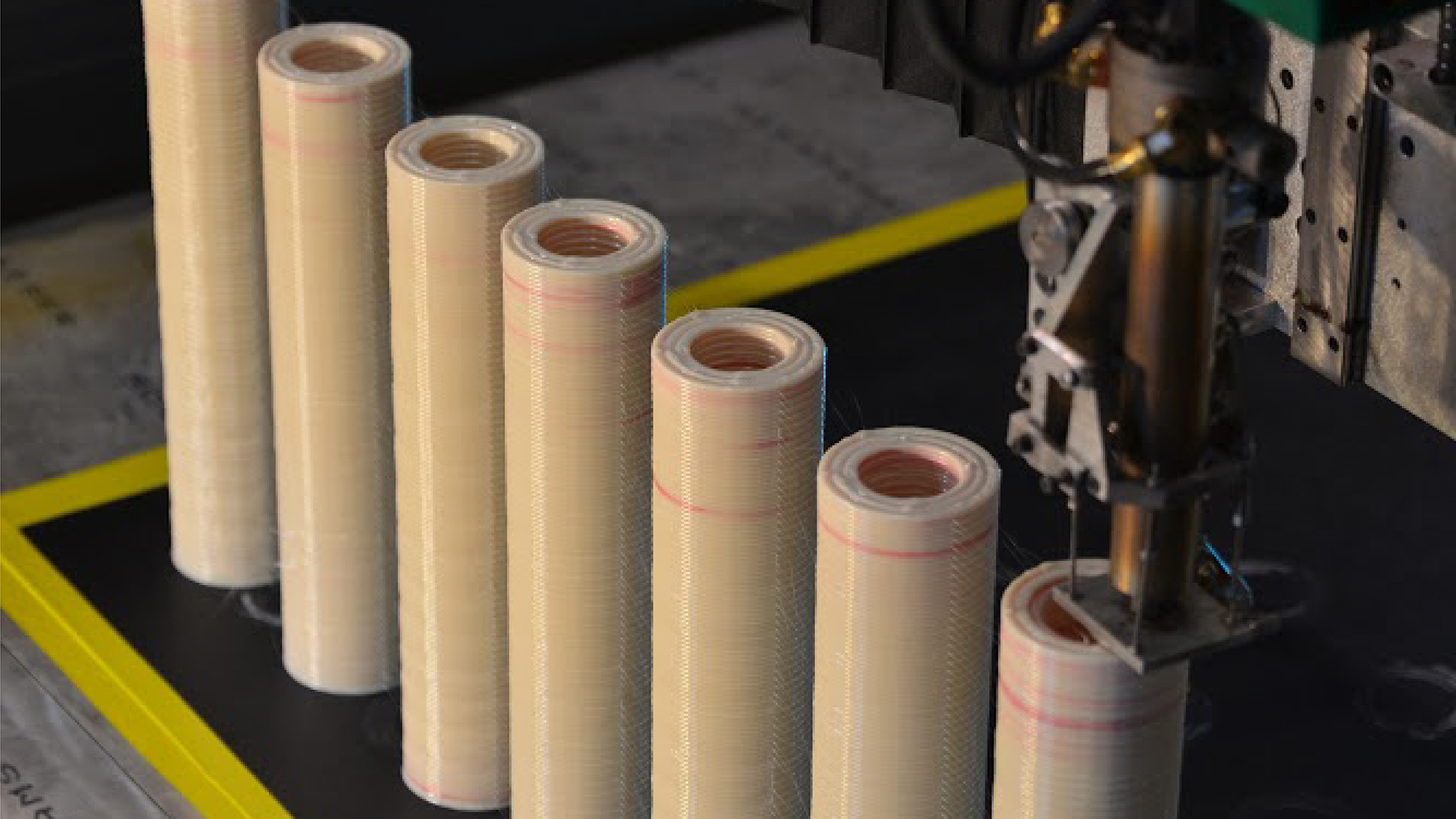 Firehawk's 3D printed solid rocket fuel rods. Photo via Firehawk Aerospace.
