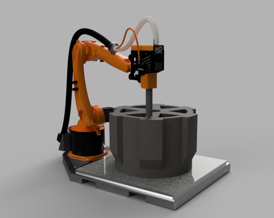 Massive Dimension's printing cell is still in development. Image via Massive Dimension.