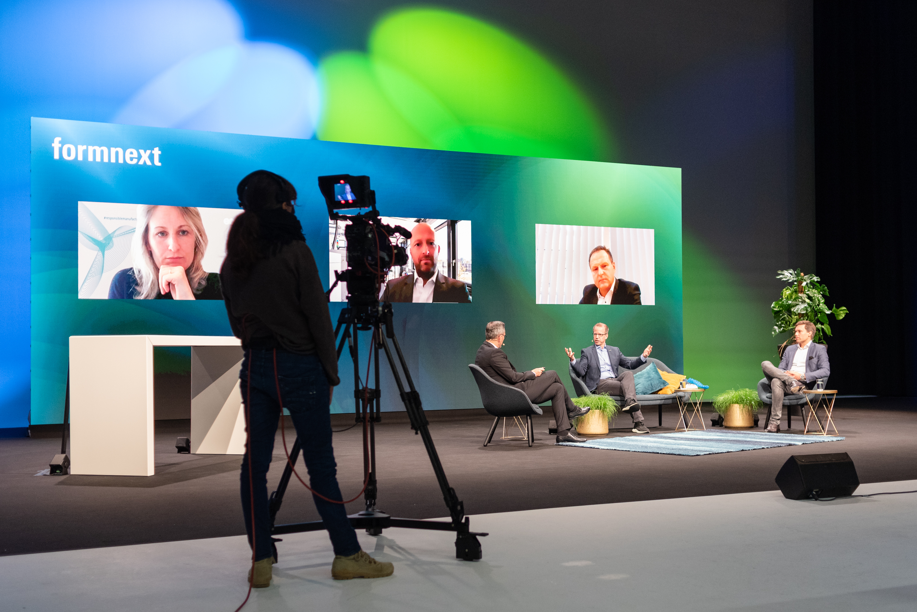 The main stage at Formnext Connect 2020. Image via Mesago Messe Frankfurt.