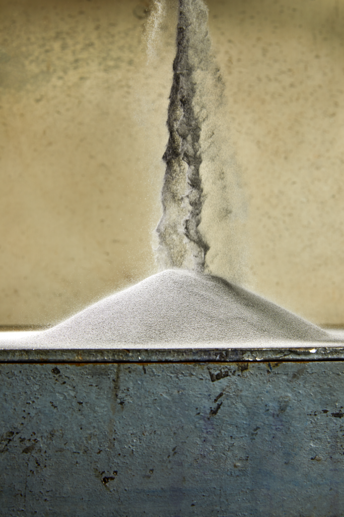 Additive Manufacturing (AM) Grade Powder created from Metal Waste. Photo via Molyworks.