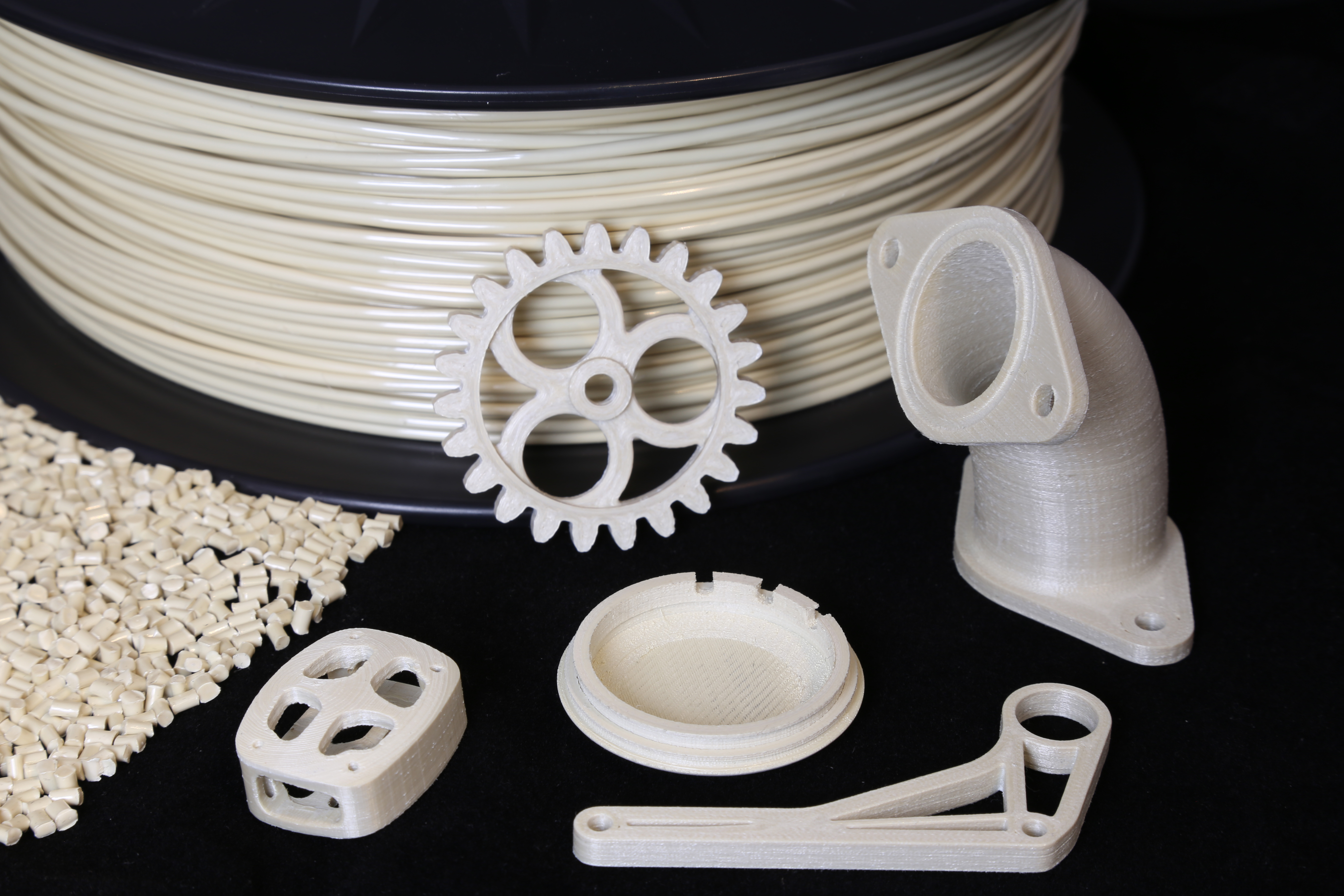 NematX offers application-specific LCP materials and manufacturing processes for 3D printed high-performance parts. Photo via NematX.