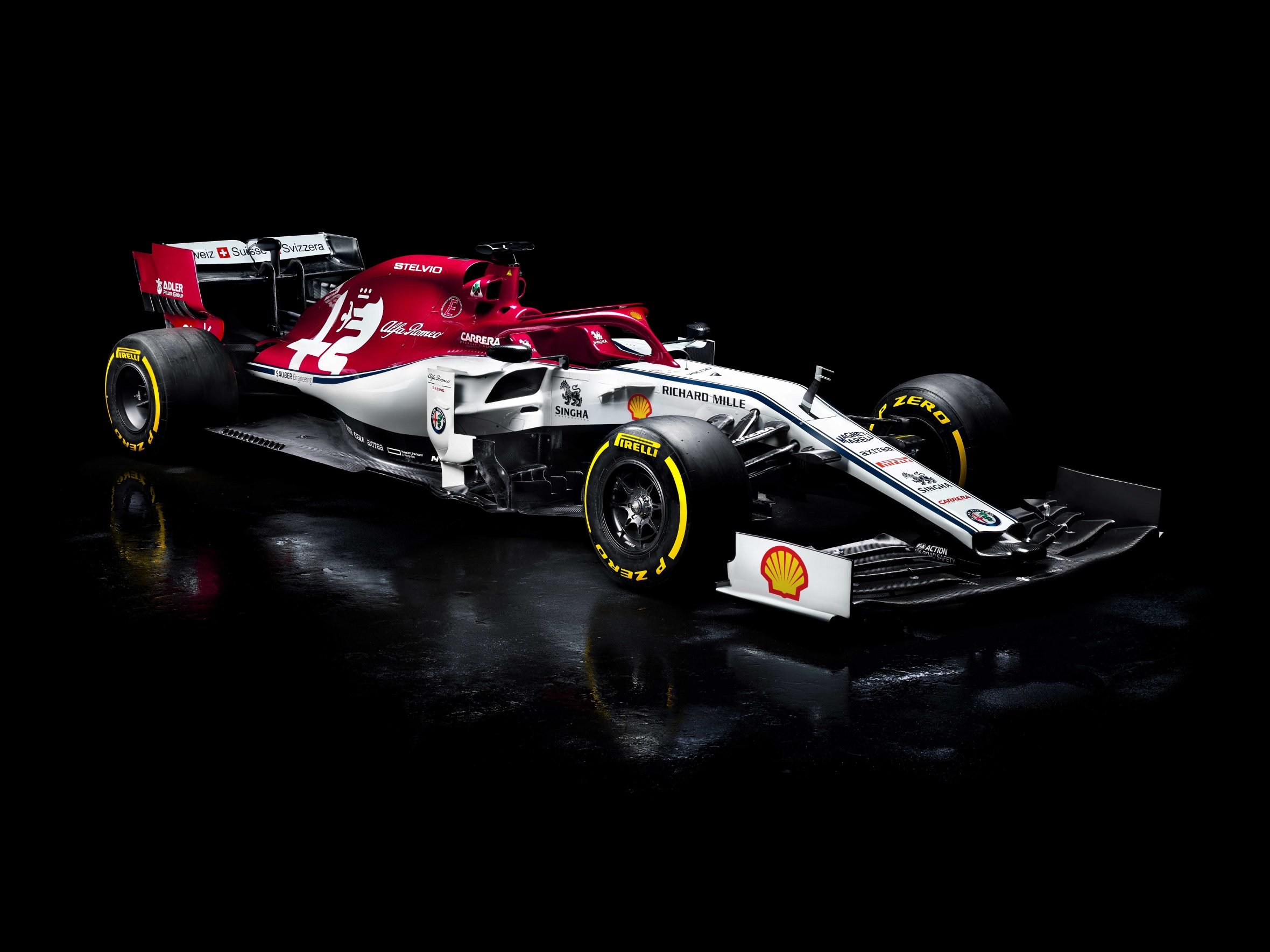 Sauber helped in the development of Alfa Romeo's F1 car, which contains 143 3D printed parts. Photo via Alfa Romeo.