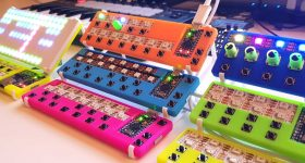 The 3D printed LEET Synth. Photo via Johan Von Konow.