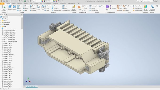 The same component can be exported to a program like Autodesk Inventor for mechanical design iterations. Image via Cadenas.