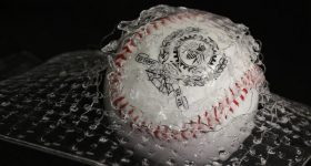 The team wanted to see if the 3D printed material could catch a free-falling 500g baseball that was dropped from a 66cm height on to a falling dart impact tester. Photo via Polytechnique Montréal