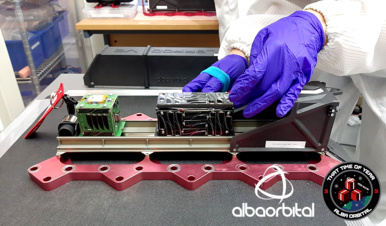 Alba Orbital has successfully integrated nine PocketQube satellites into its AlbaPod v2 deployer. Image via CRP Technology.