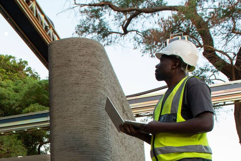 14Trees is using 3D printing to address Africa's housing and infrastructure shortage. Image via 14Trees.