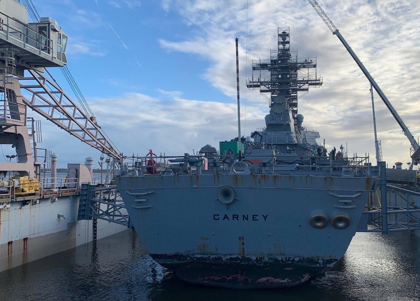 Through one of its research projects, NAVSEA aims to reduce the amount of time ships spend under maintenance. Photo via NAVSEA.