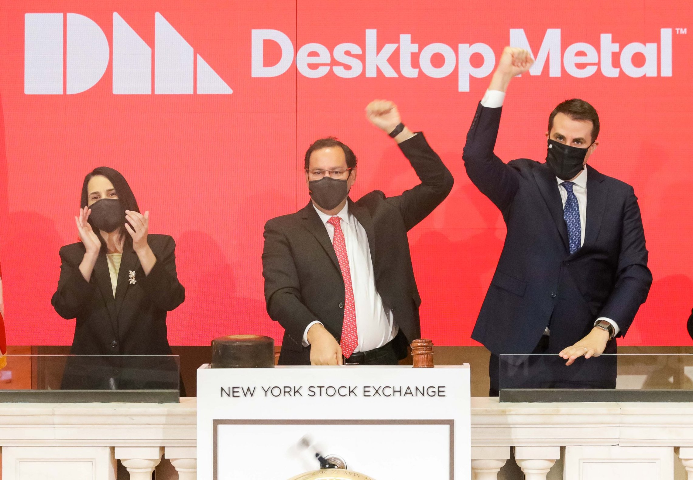 Following the conclusion of its merger with Trine, Desktop Metal has now gone live on the NYSE. Photo via Desktop Metal.