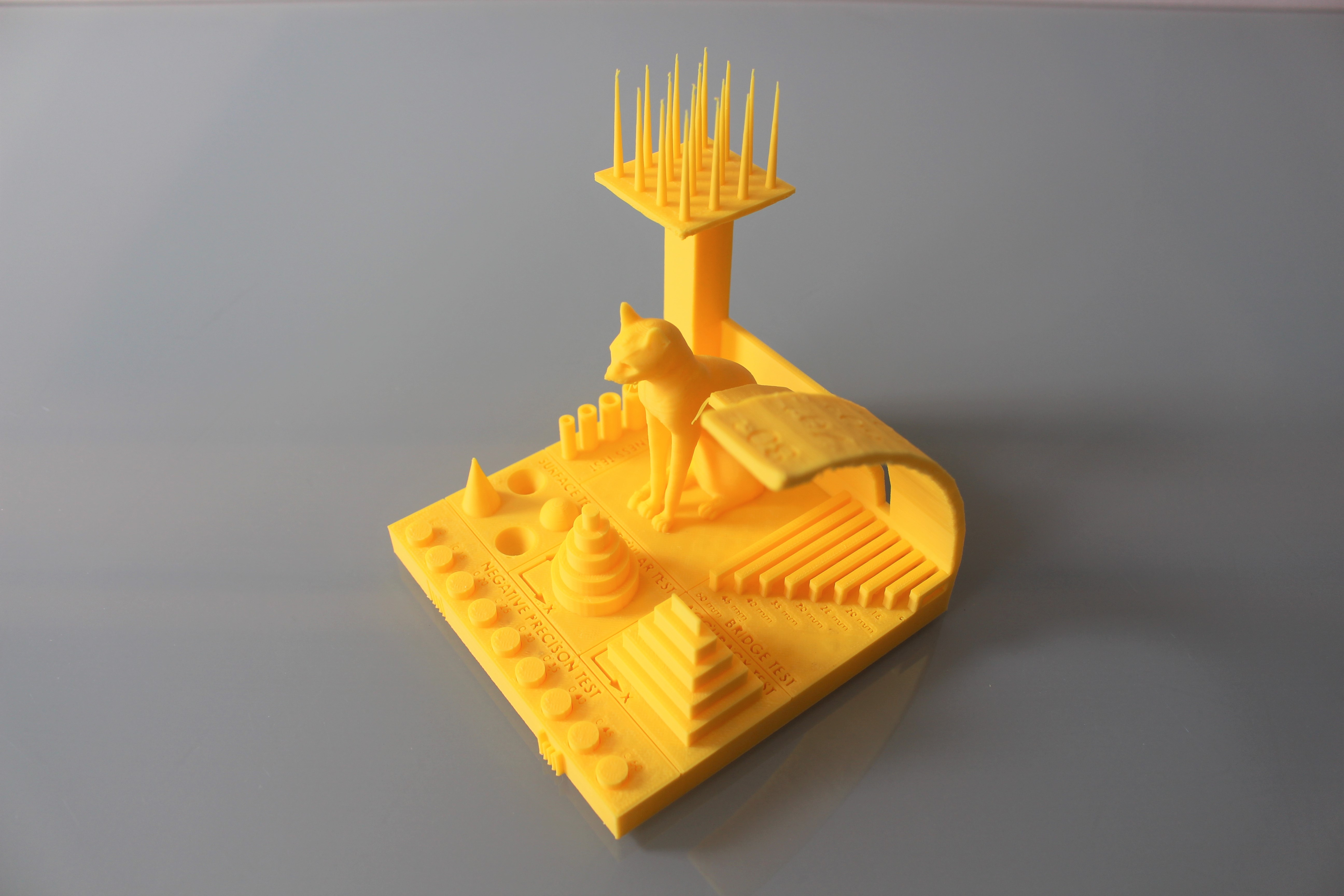 The 3D Printing Industry benchmarking model. Photo by 3D Printing Industry.