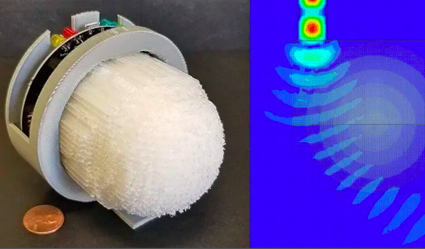 The Delaware team has developed a series of 3D printed lens prototypes that are compatible with 5G frequencies. Image via the University of Delaware.