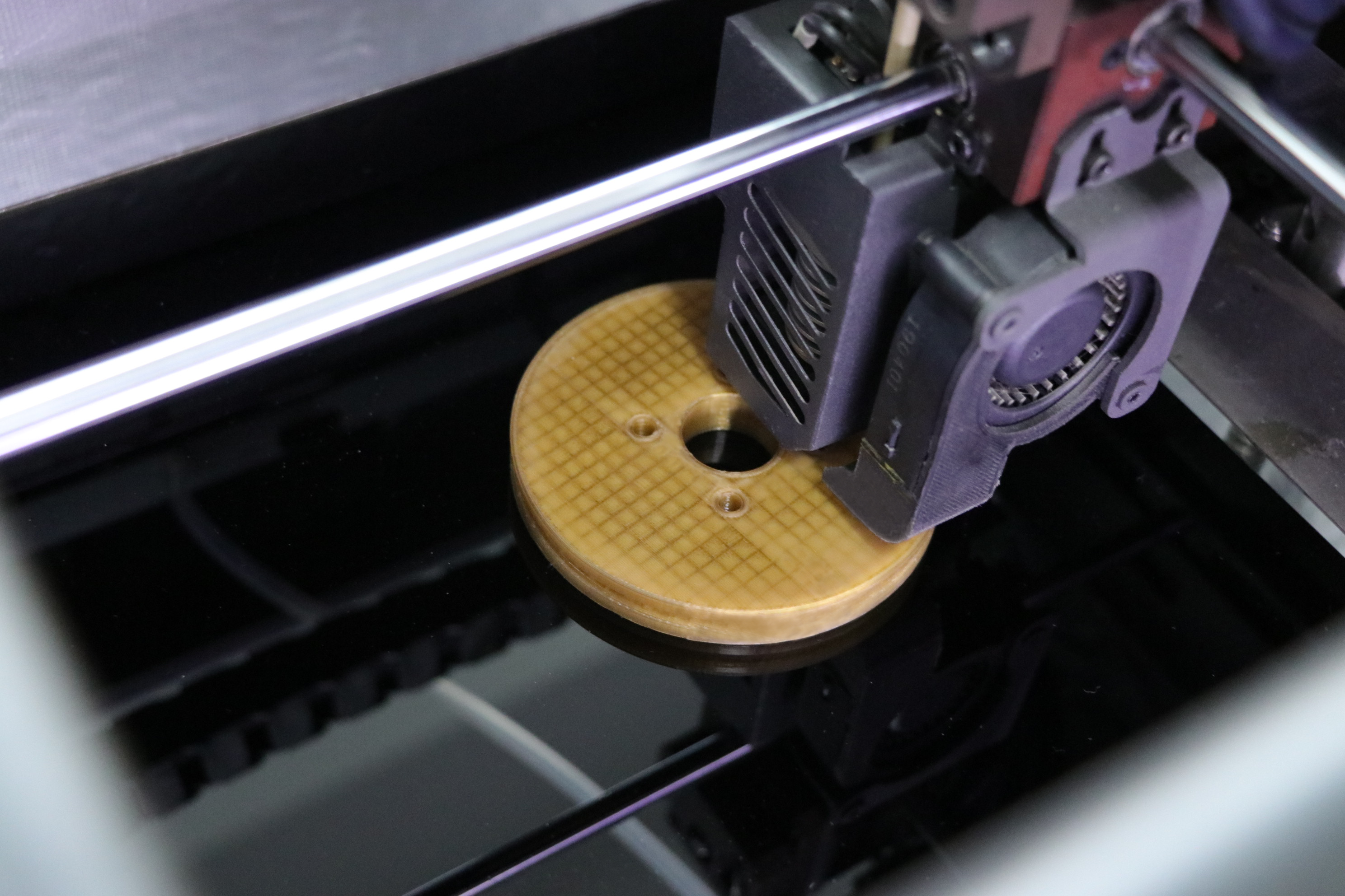 The replacement pulley wheels 3D printed with INTAMSYS PEEK filament. Image via INTAMSYS.