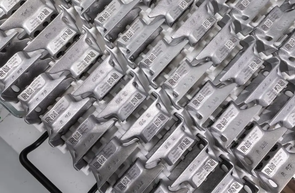 Rolls Royce recently showcased a number of its metal 3D printed series components. Photo via Rolls Royce.