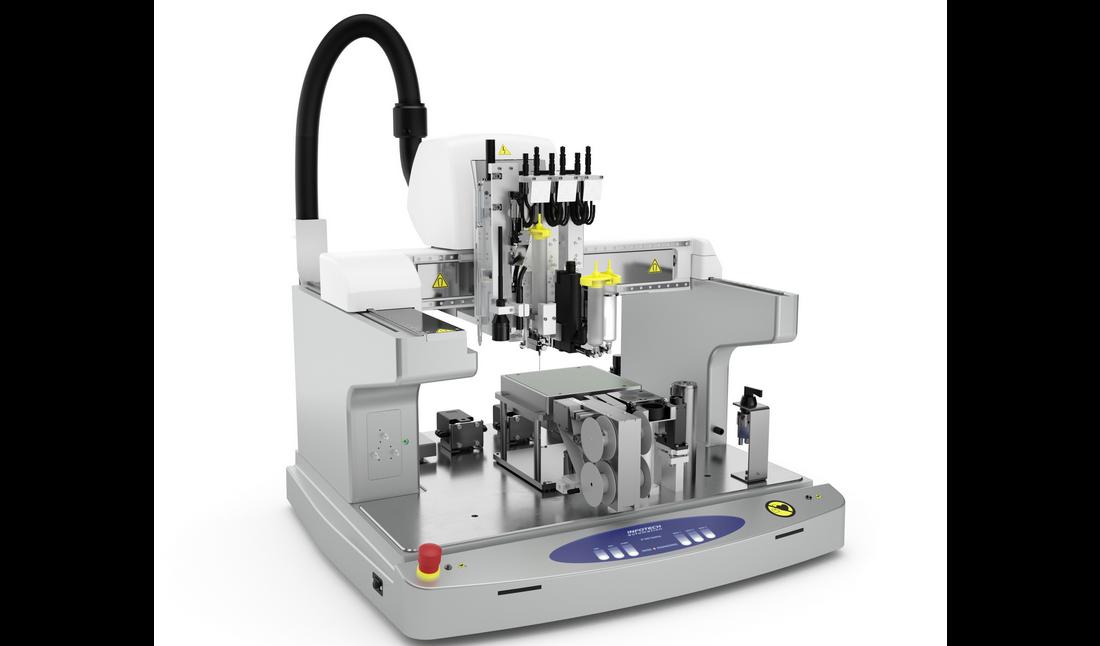 The new Infotech multi-material 3D printer. Photo via Infotech.