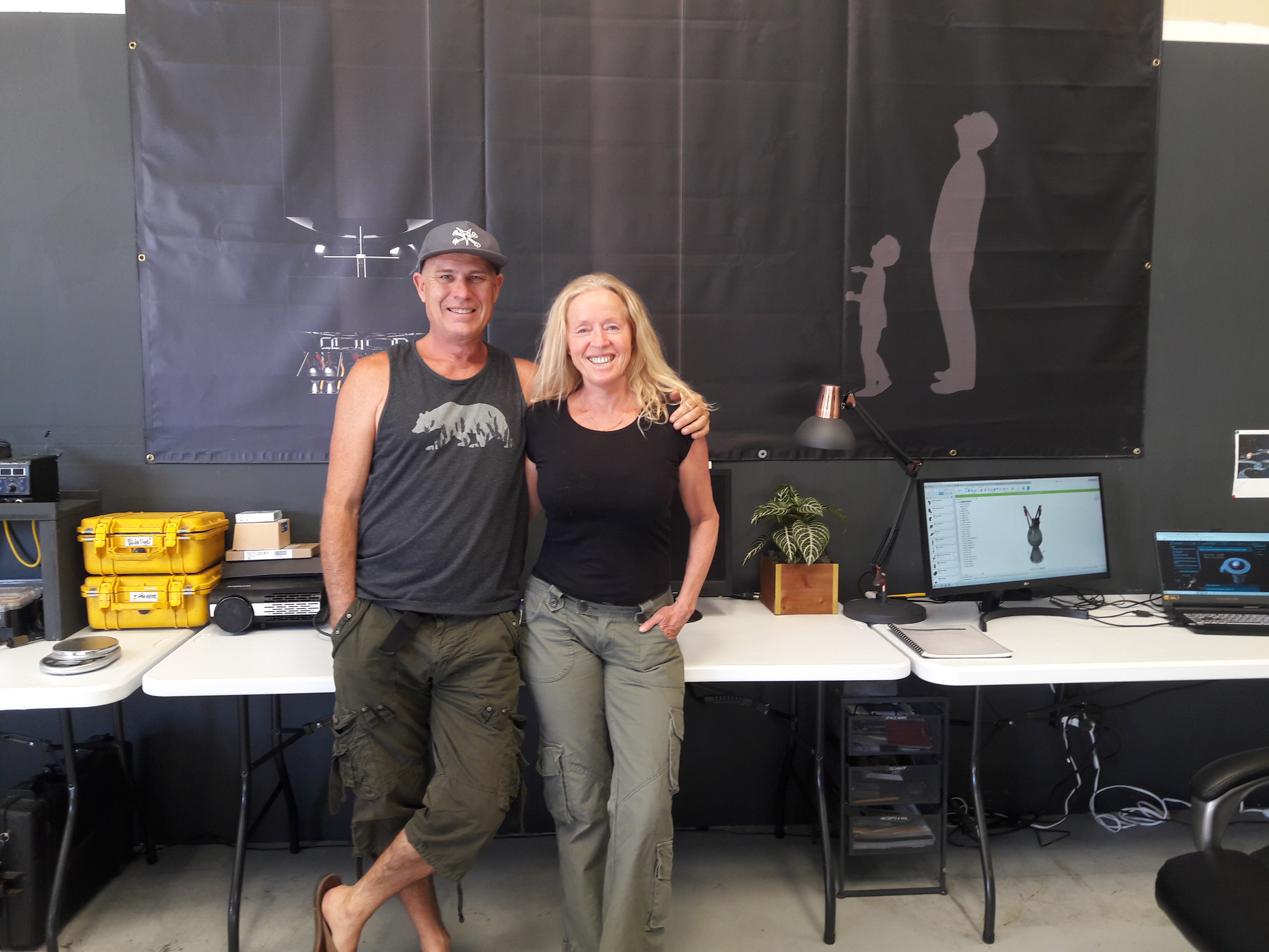 Tom and Tina Sjogren, co-founders of PythomSpace. Image via PythomSpace.