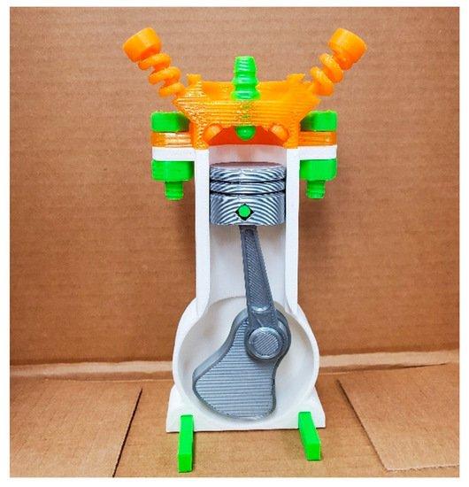 3D Printable Combustion Engine learnign aid design. Image via Jack Imakr/MyMiniFactory.