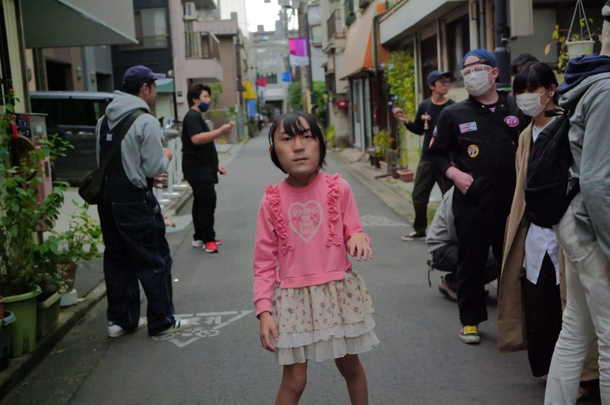 Okawara's masks can make for some very unnerving images. Photo via Shuhei Okawara.