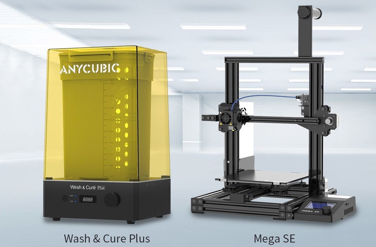 Anycubic revealed the two latest editions to its machine portfolio (pictured) at CES 2021. Image via Anycubic.